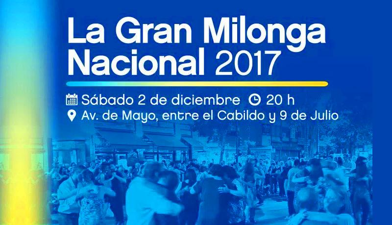 """""""La Gran Milonga Nacional 2017"""" – Tango ao ar livre na Av de Mayo"""