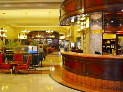 Recepção do Hotel Castelar, em Buenos Aires